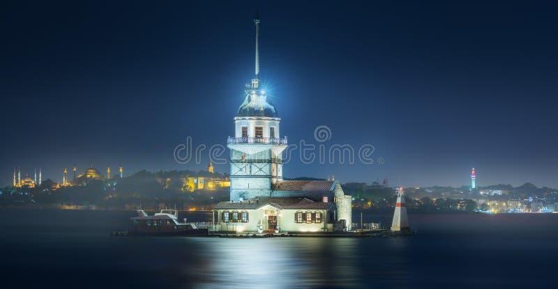 Torre nova no passo Istambul de Bosphorus, Turquia fotografia de stock