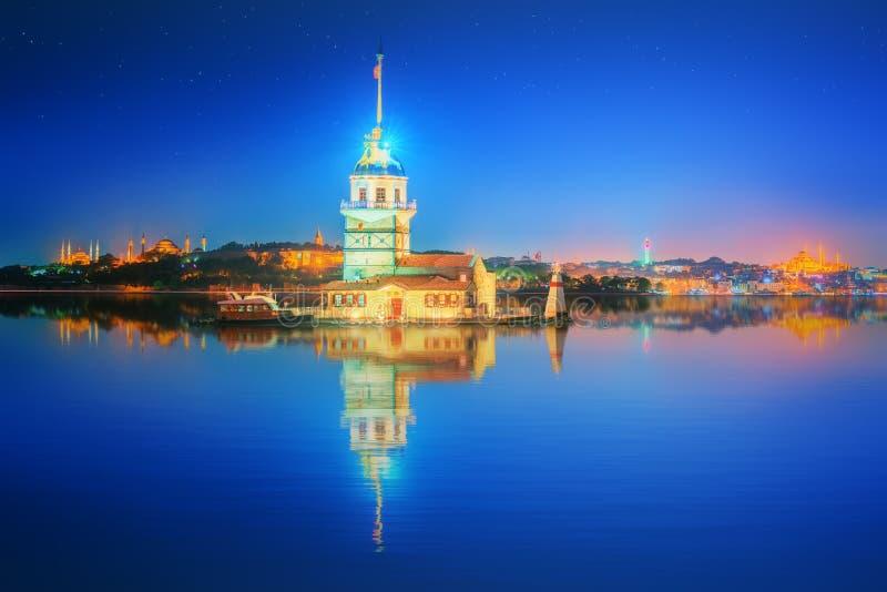 Torre nova ou Kiz Kulesi Istambul fotografia de stock royalty free