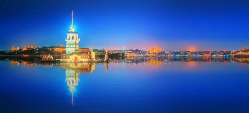 Torre nova ou Kiz Kulesi Istambul fotos de stock