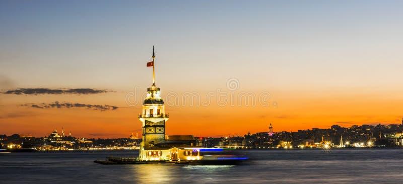Torre nubile del ` s a Costantinopoli, Turchia fotografie stock