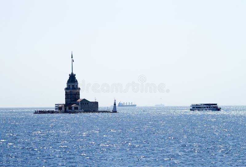 Torre nubile del ` s, Costantinopoli, un simbolo famoso della Turchia immagine stock