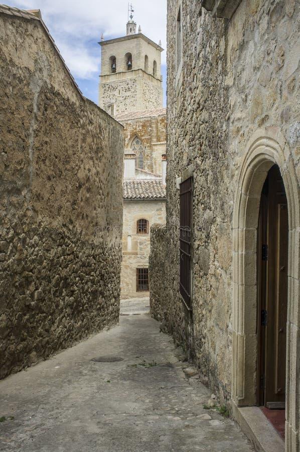 Torre Nueva van Kerk van Santa Maria la Mayor, Trujillo, Spanje royalty-vrije stock foto