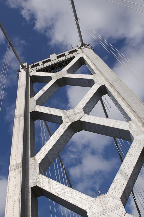 Torre occidentale del ponte della baia immagine stock