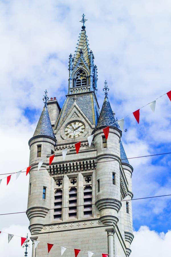 Torre ocidental da casa de cidade nova na rua da união, Aberdeen, Escócia, Reino Unido fotos de stock