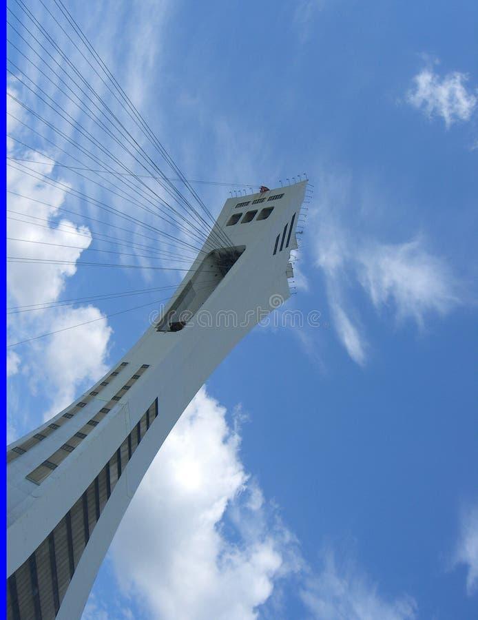 Torre Olímpica Del Parque De Montreal Imagen editorial
