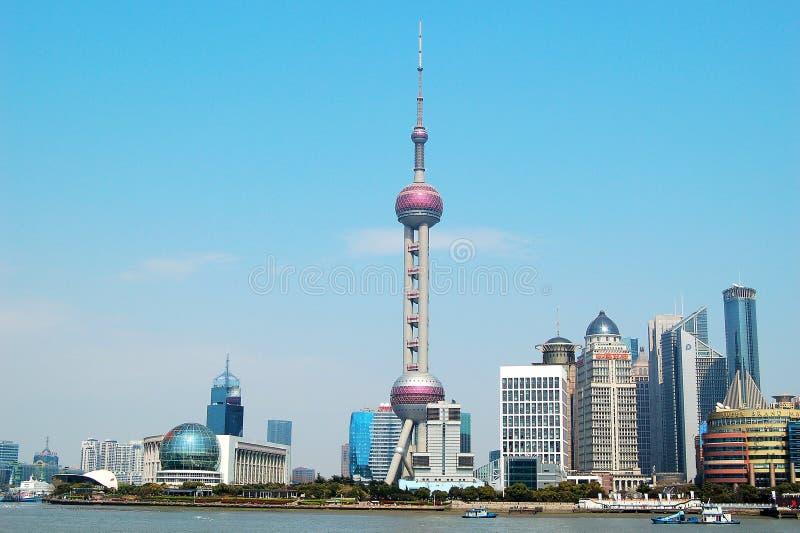A torre oriental da pérola em Shanghai fotos de stock royalty free