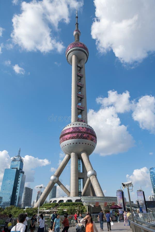 A torre oriental da pérola em Shanghai, China fotografia de stock royalty free