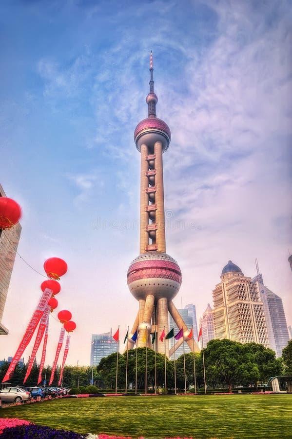 Torre oriental Shangai de la perla imágenes de archivo libres de regalías