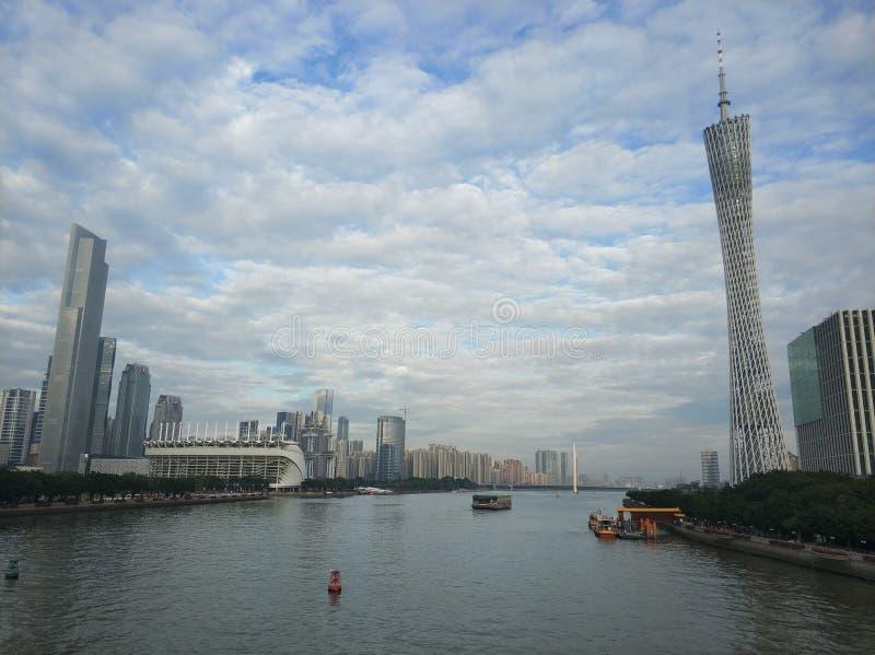 Torre Pearl River de China Guangzhou Guangzhou imagens de stock royalty free