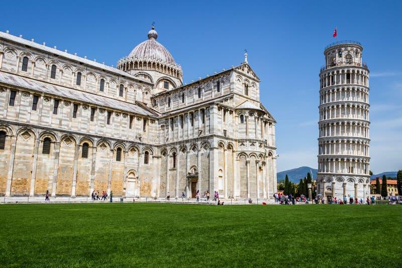 Torre pendente di Pisa, Italia fotografia stock libera da diritti