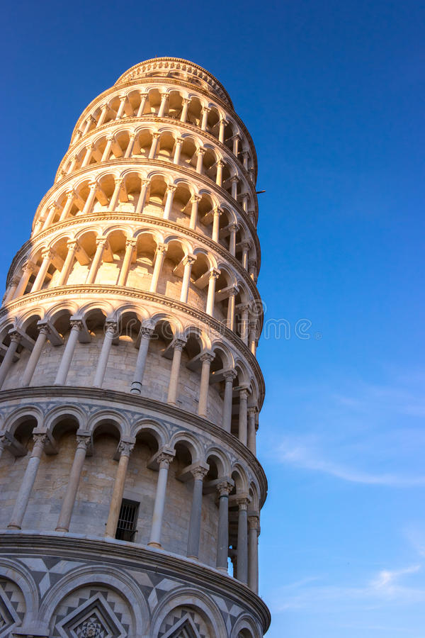 Torre pendente di Pisa, Italia fotografie stock libere da diritti