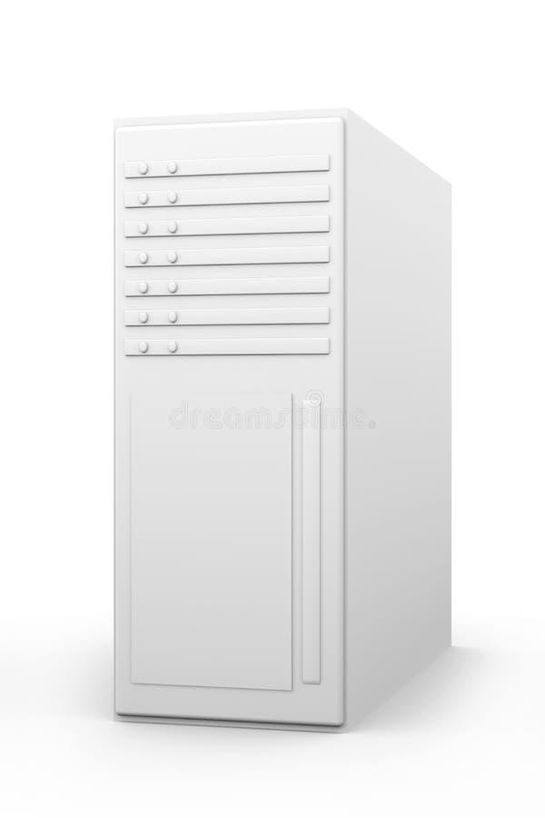 Torre a 19 pollici del server illustrazione vettoriale