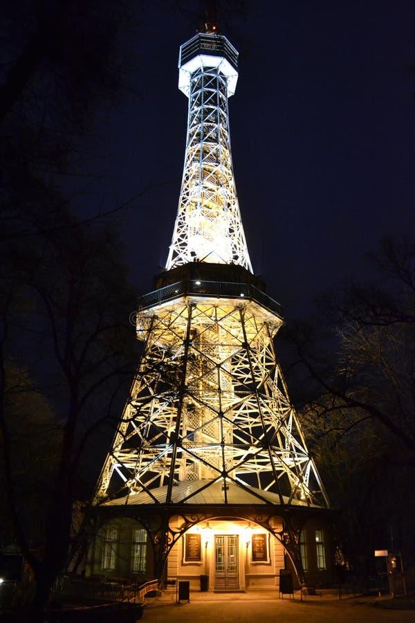 Torre Praga dell'allerta di PetÅ™Ãn immagini stock libere da diritti