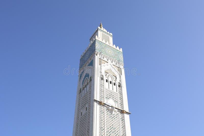 Torre principal de la mezquita de Hassan II, Casablanca, Marruecos imagenes de archivo
