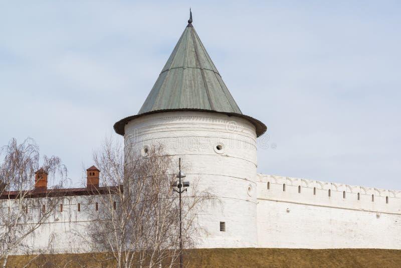 Torre redonda do sudoeste do Kremlin de Kazan República de Tartaristão, Rússia imagem de stock