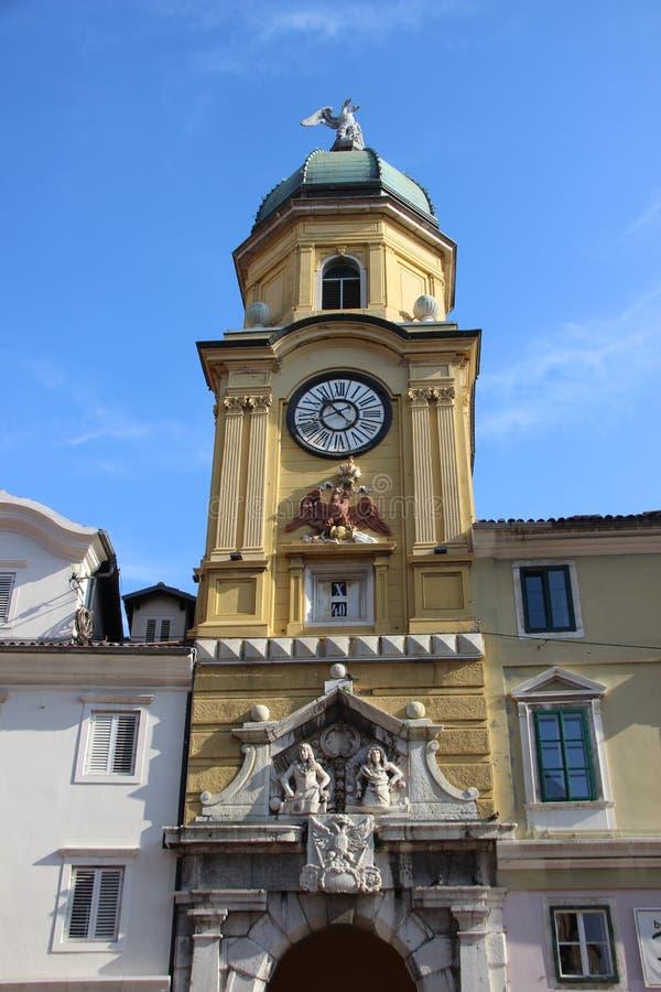 Torre Reloj En Rijeka fotografía de archivo