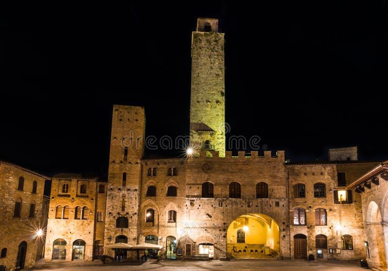 Torre Rognosa i San Gimignano, Tuscany royaltyfri fotografi
