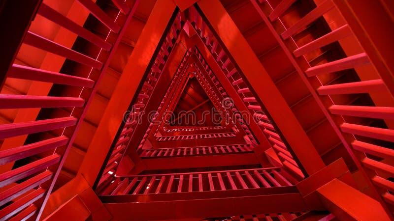 Torre roja del trangle fotos de archivo