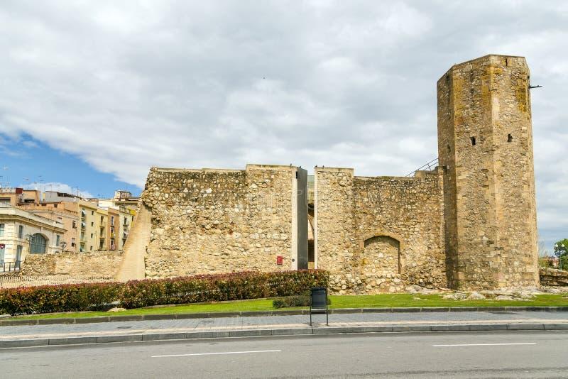 Torre romana do circo, Tarragona, Espanha. imagem de stock