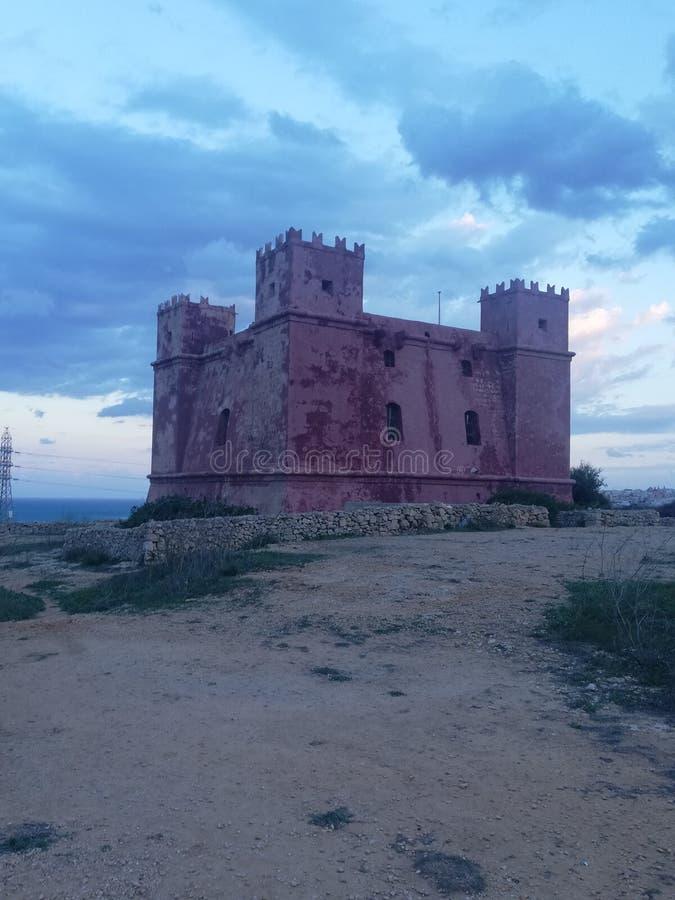 Torre rossa fotografia stock