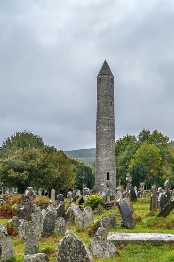 Torre rotonda, Glendalough, Irlanda immagine stock