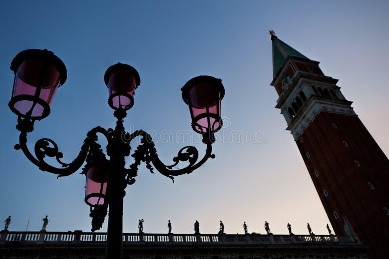 Torre San Marco, Venezia, Venezia, ItaliaItaly del campanile di Lattern immagine stock