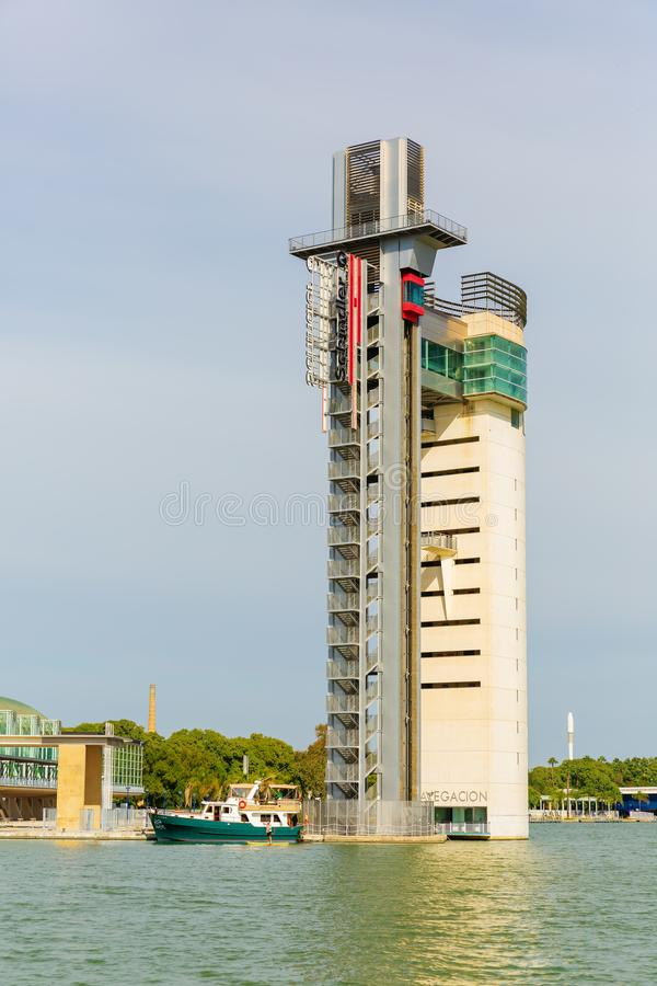 Torre Schindler in Siviglia, Spagna fotografia stock