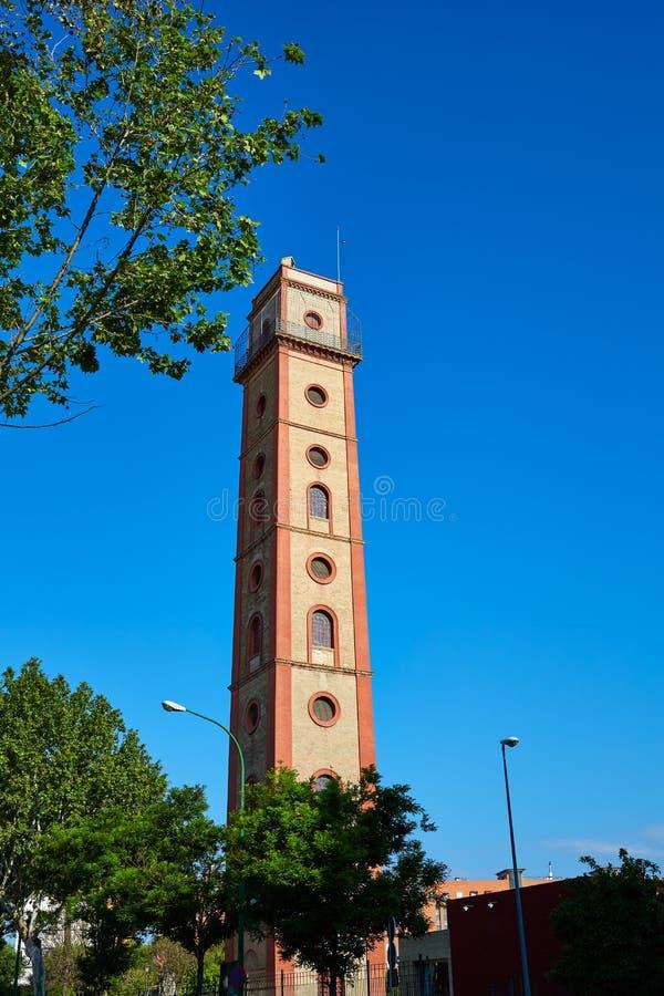 Torre spain de Sevilha Torre de los Perdigones fotografia de stock