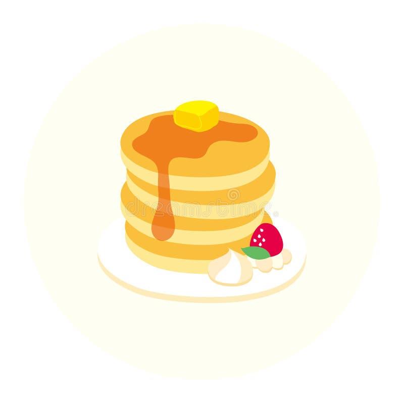 Torre sveglia del pancake di vettore immagine stock