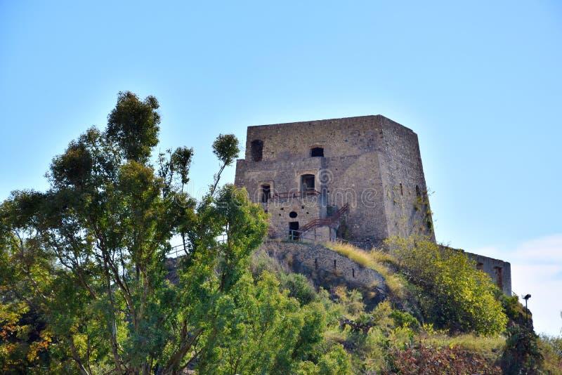 Torre Talao in Scalea, Calabrië royalty-vrije stock fotografie