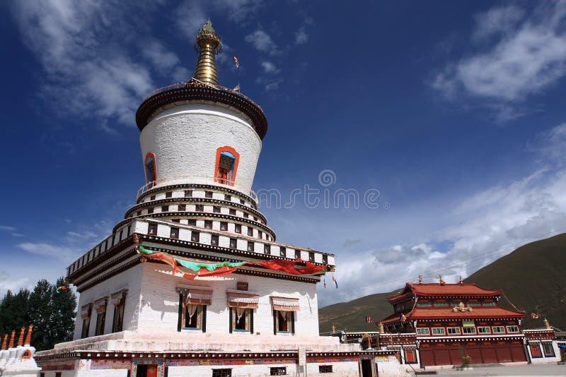 Torre tibetana fotografia de stock