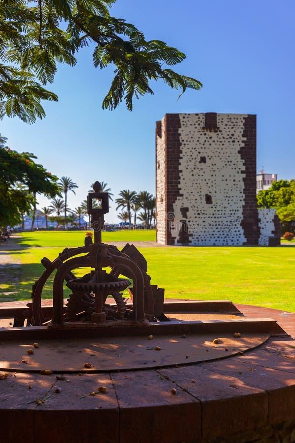Torre Torre del conde in San Sebastian - isola di Gomera della La - Cana immagini stock libere da diritti