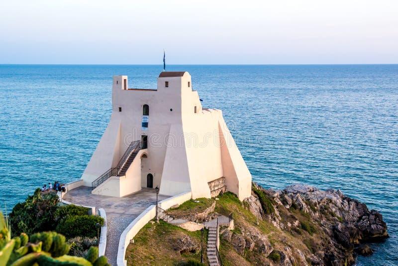 ` Torre Truglia ` in Sperlonga, Lazio royalty-vrije stock afbeeldingen