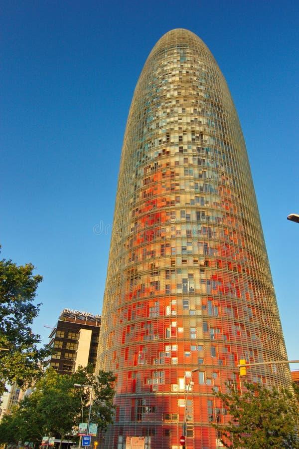 Torre (Turm) Agbar, Barcelona Spanien stockbild