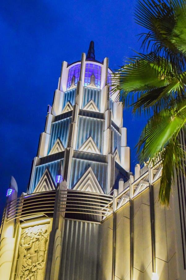 Torre universale della plaza fotografie stock libere da diritti