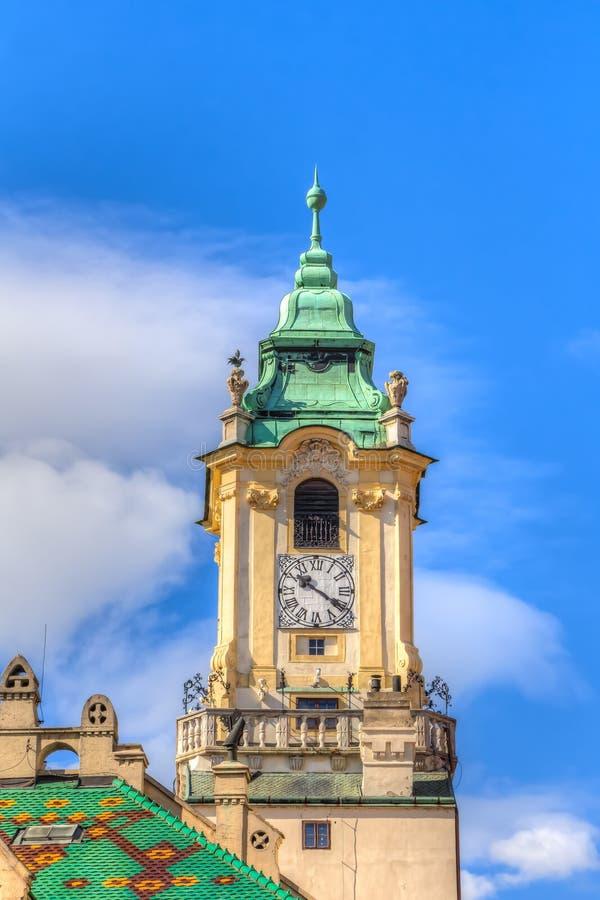 Torre velha Bratislava da câmara municipal fotos de stock royalty free