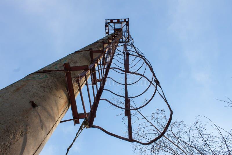 Torre velha da escada fotografia de stock