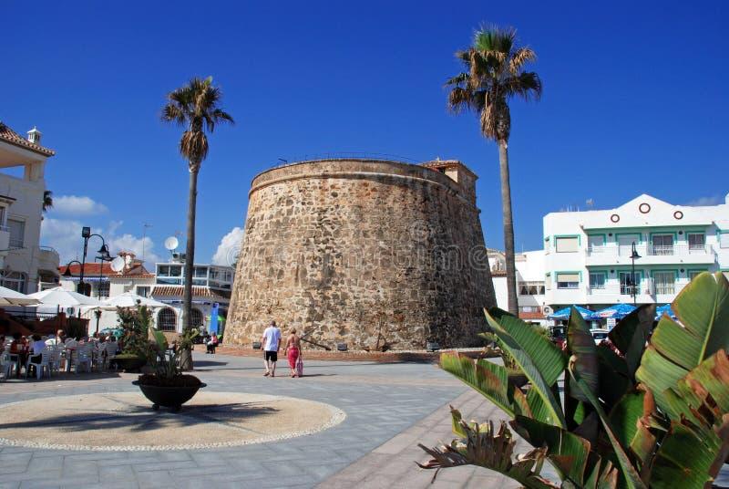 Torre velha do relógio, La Cala de Mijas imagens de stock