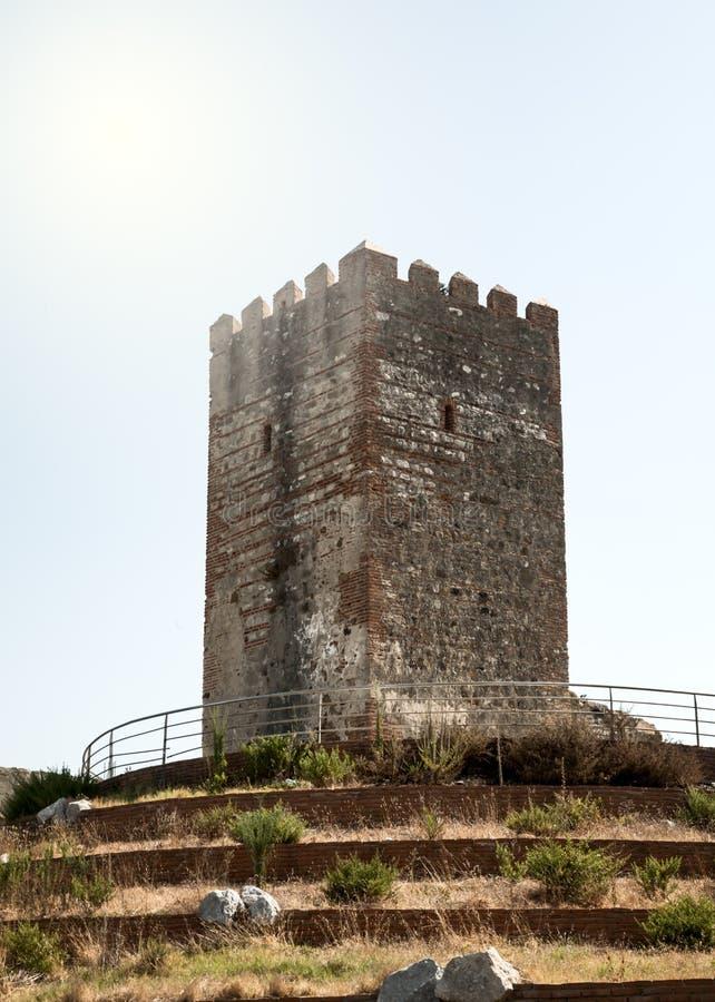 Torre velha em Tânger Marrocos foto de stock