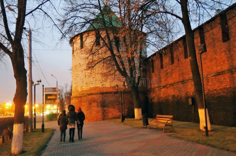 Torre velha Kremlin em Nizhny Novgorod, Rússia imagens de stock royalty free