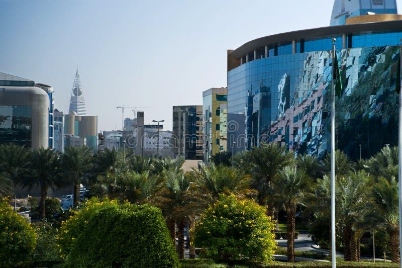 Torre verde de Riyadh y de Faisaliah imagen de archivo libre de regalías
