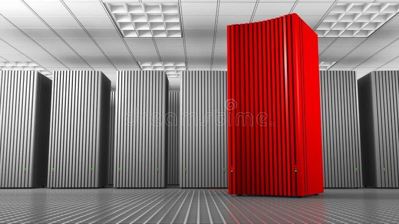 Torre vermelha do conhecimento ilustração royalty free