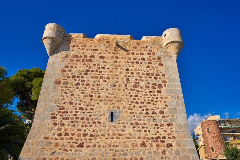 Torre Vicent sant wierza w Benicassim obrazy stock