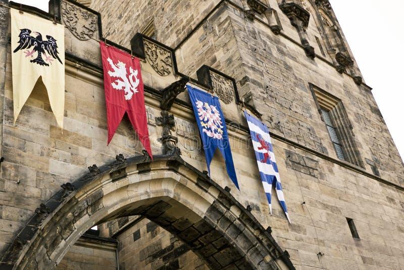 Torre vieja de la ciudad del puente de Charles imagen de archivo libre de regalías