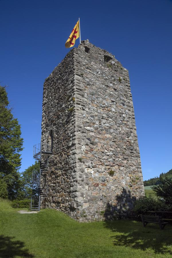 Torre vieja de la fortaleza imagen de archivo