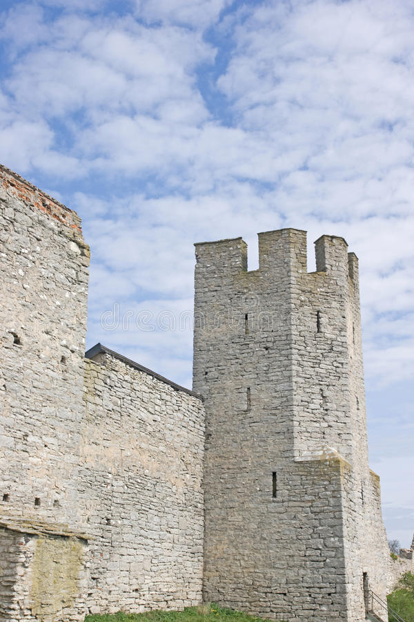 torre de la fortaleza en Visby Suecia imagenes de archivo