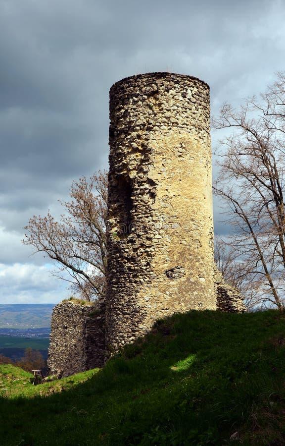 Torre vieja del castillo fotos de archivo