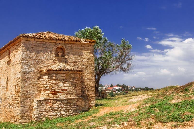Torre vieja, Nea Fokea, Halkidiki fotos de archivo libres de regalías
