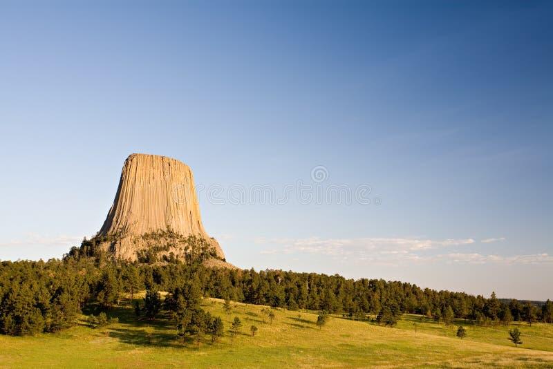 Torre Wyoming de los diablos foto de archivo libre de regalías