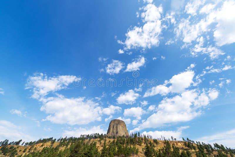 Torre y cielo de los diablos fotos de archivo libres de regalías